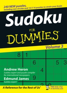 Su Doku For Dummies : v. 3, Paperback Book