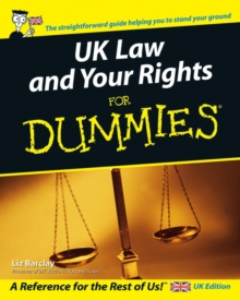 UK Law and Your Rights For Dummies, Paperback Book