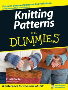 Knitting Patterns For Dummies, Paperback Book