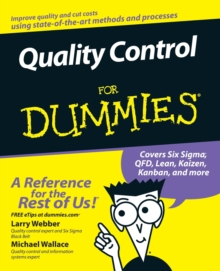 Quality Control for Dummies, Paperback Book