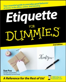 Etiquette for Dummies, 2nd Edition, Paperback Book