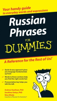 Russian Phrases for Dummies, Paperback Book