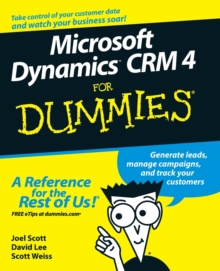 Microsoft Dynamics CRM 4 for Dummies (R), Paperback Book
