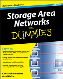 Storage Area Networks for Dummies (R), 2nd Edition, Paperback Book