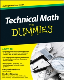 Technical Math for Dummies, Paperback Book