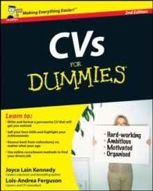 CVs For Dummies, Paperback Book