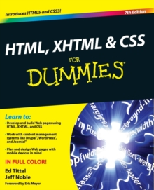 HTML, XHTML and CSS For Dummies, Paperback Book