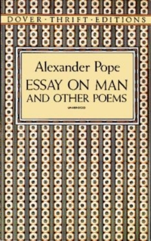 Essay on Man and Other Poems, Paperback Book