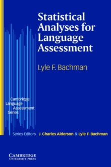 Statistical Analyses for Language Assessment, Paperback Book