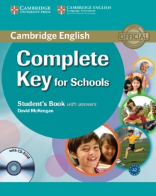 Complete Key for Schools Student's Book with Answers with CD-ROM, Mixed media product Book