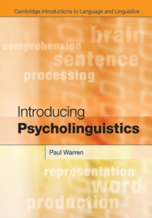 Introducing Psycholinguistics, Paperback Book