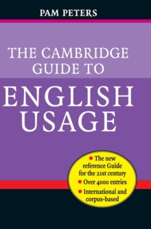 The Cambridge Guide to English Usage, Hardback Book