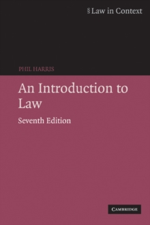 An Introduction to Law, Paperback Book