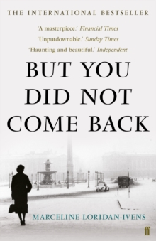 But You Did Not Come Back, Paperback Book