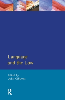 Language and the Law, Paperback Book