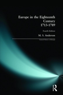 Europe in the Eighteenth Century : 1713-1789 1713-1789, Paperback Book