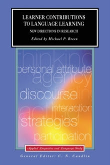 Learner Contributions to Language Learning : New Directions in Research, Paperback Book