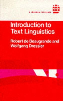 Introduction to Text Linguistics, Paperback Book