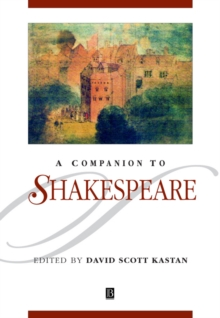 A Companion to Shakespeare, Paperback Book