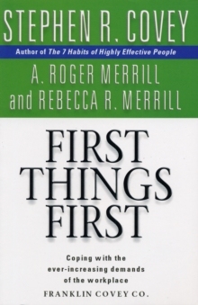 First Things First, Paperback Book