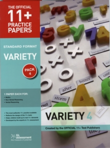 11+ Practice Papers, Variety Pack 4, Standard : Maths Test 4, Verbal Reasoning Test 4, Non-Verbal Reasoning Test 4, Paperback Book