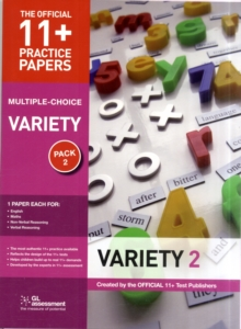 11+ Practice Papers, Variety Pack 2, Multiple Choice : English Test 2, Maths Test 2, Verbal Reasoning Test 2, Non-Verbal Reasoning Test 2, Paperback Book
