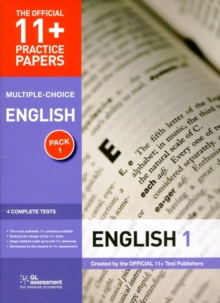 11+ Practice Papers, English Pack 1, Multiple Choice : Test 1, Test 2, Test 3, Test 4, Pamphlet Book