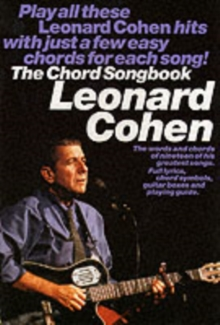 Leonard Cohen : Chord Songbook, Paperback Book