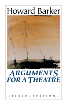 Arguments for a Theatre, Paperback Book