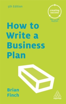 How to Write a Business Plan, Paperback Book