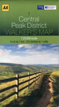 Central Peak District, Sheet map, folded Book