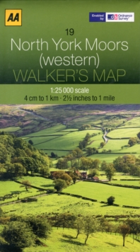 North York Moors  (Western), Sheet map, folded Book
