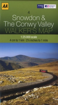 Snowdon and The Conwy Valley, Sheet map, folded Book