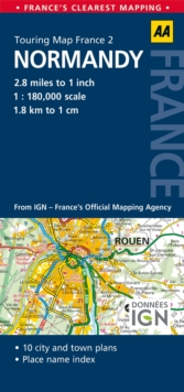 2. Normandy : AA Road Map France, Sheet map, folded Book