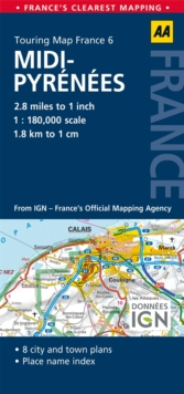 6. Midi-Pyrenees : AA Road Map France, Sheet map, folded Book