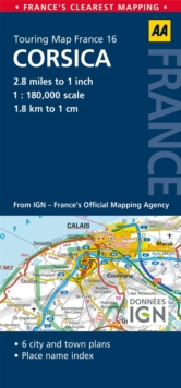 16. Corsica : AA Road Map France, Sheet map, folded Book