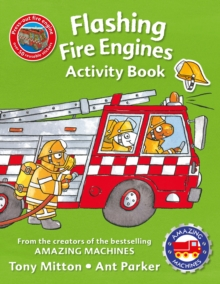 Amazing Machines Flashing Fire Engines Activity Book, Paperback Book