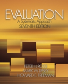 Evaluation : A Systematic Approach, Hardback Book