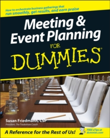 Meeting & Event Planning for Dummies, Paperback Book