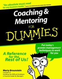 Coaching and Mentoring For Dummies, Paperback Book