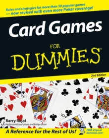 Card Games for Dummies, 2nd Edition, Paperback Book
