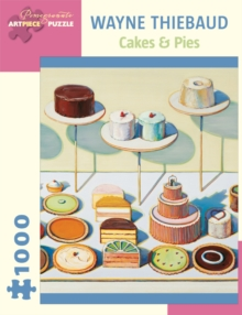 Wayne Thiebaud Cakes & Pies 1000-Piece Jigsaw Puzzle Aa834, Other merchandise Book