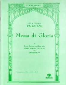 MESSA DI GLORIA VOCAL SCORE SATB, Paperback Book