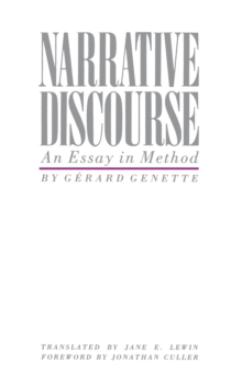 Narrative Discourse : An Essay in Method, Paperback Book