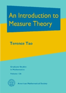 An Introduction to Measure Theory, Hardback Book