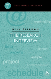 The Research Interview, Paperback Book