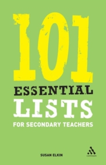101 Essential Lists for Secondary Teachers, Paperback Book