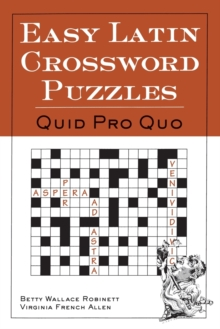 Easy Latin Crossword Puzzles : Quid Pro Quo, Paperback Book