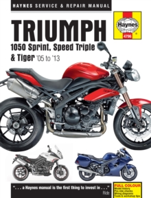 Triumph 1050 Sprint, Speed Triple & Tiger Service and Repair Manual, Paperback Book