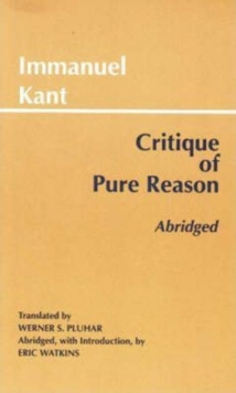 Critique of Pure Reason, Abridged, Paperback Book
